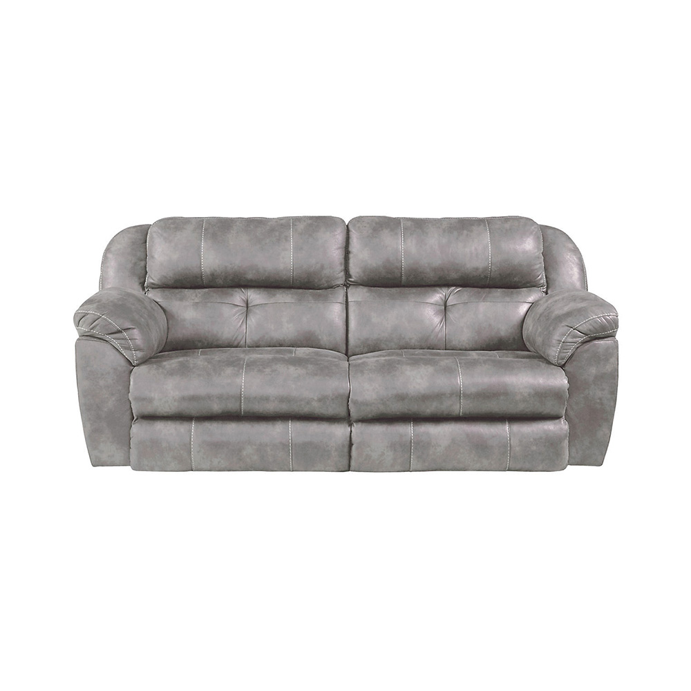 Farley Power Reclining Sofa with Power Headrest - STEEL