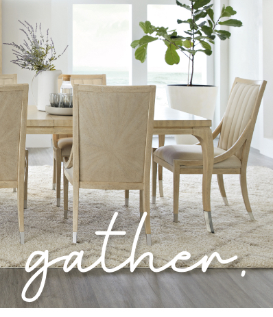 Your home is your refuge from the hustle and bustle of everyday life. Our Dining Room furniture is designed to work together so you can feel relaxed and comfortable. Click to Shop Dining Rooms