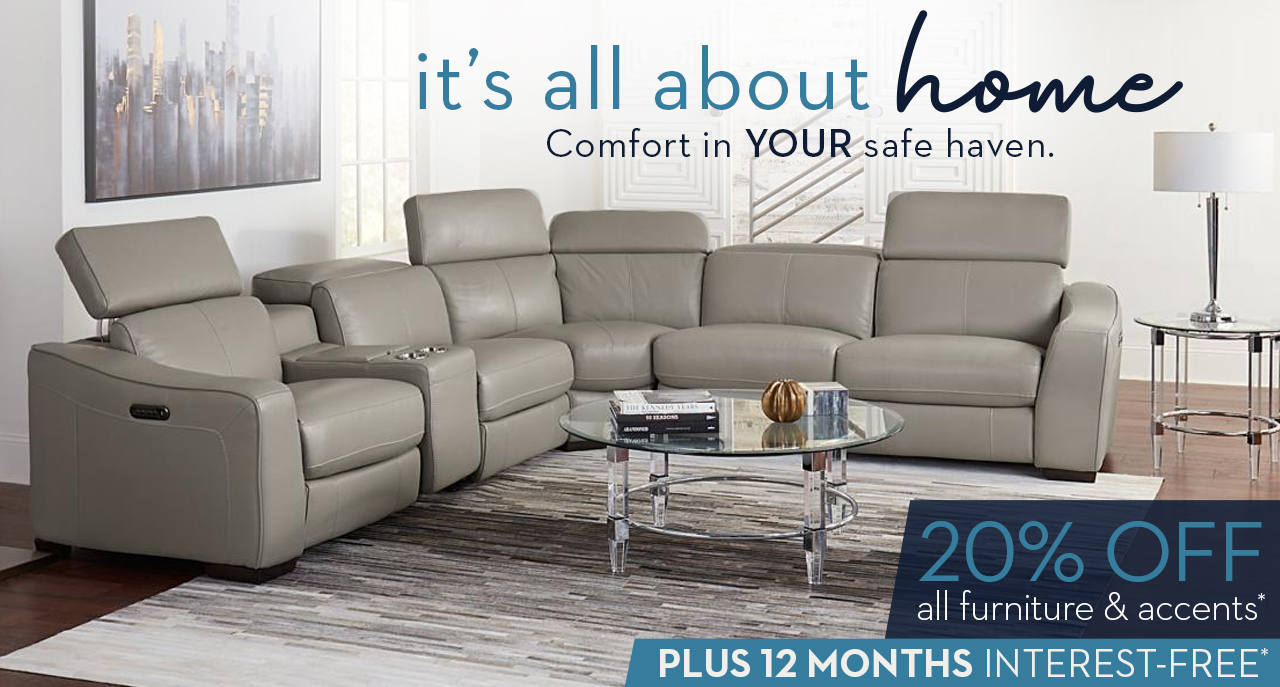 It's all about home. Comfort in your safe haven. Visit Star or shop online for 20% off all furniture and accents PLUS 12 months interest free.