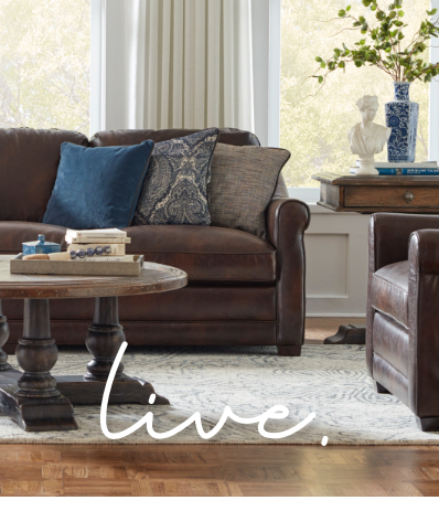 The value of a beautiful living room isn't only about price. It's the sum of all parts: quality, comfort, durability and beauty. Click to Shop Living Rooms!