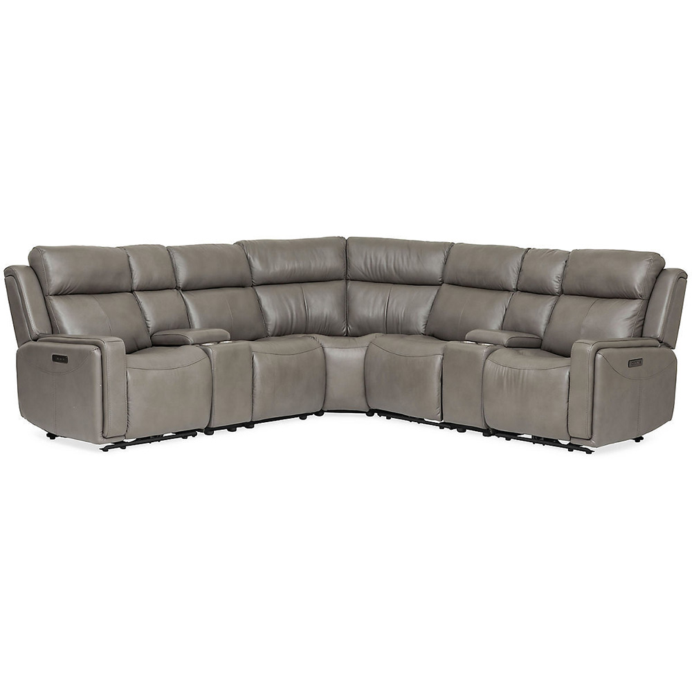 Perry Leather 7 Piece Power Reclining Modular Sectional