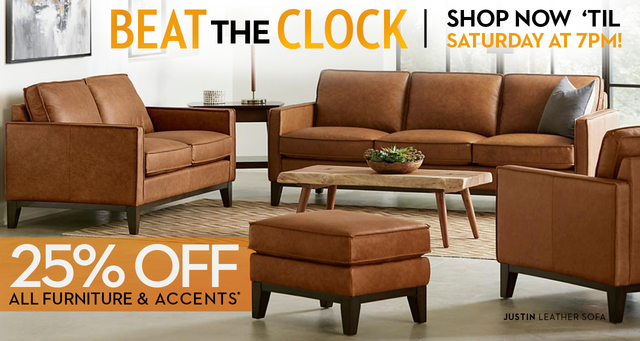 Scary good savings at Star Furniture! Get 25% off all Furniture and Accents till Saturday! extended hours Saturday till 7pm